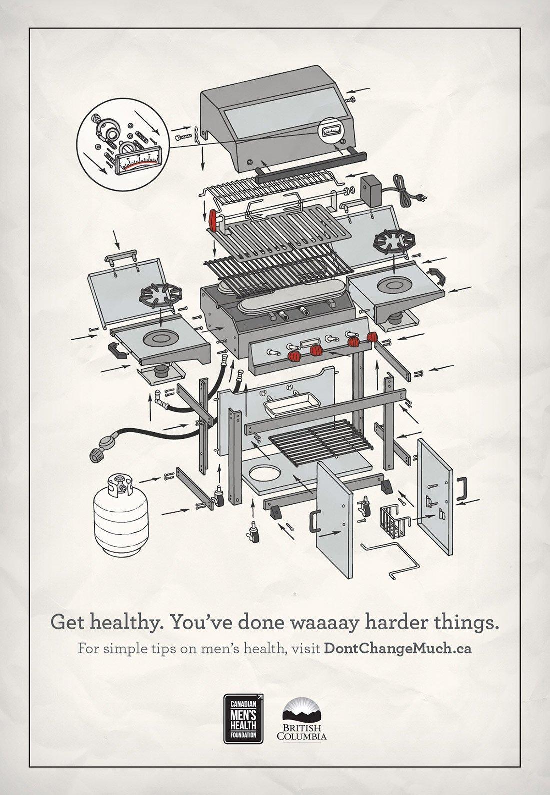 Dont Change Much BBQ Print Ad
