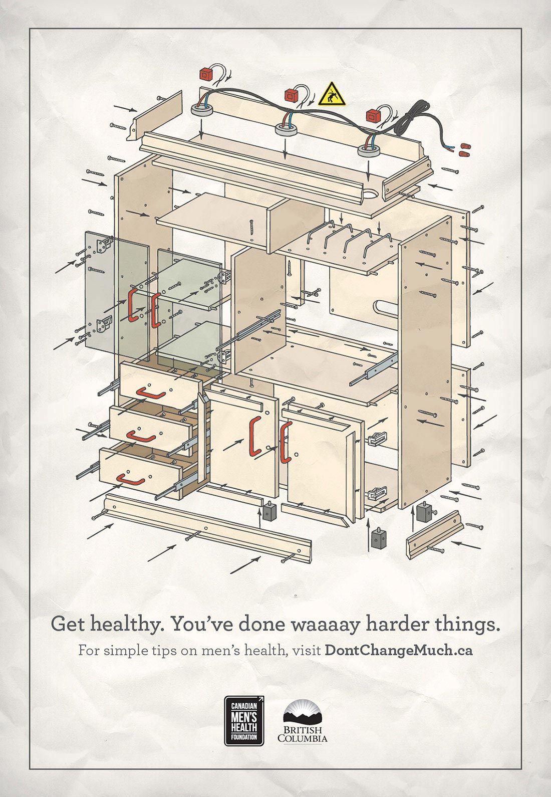 Don't Change Much Shelving Unit Print Ad