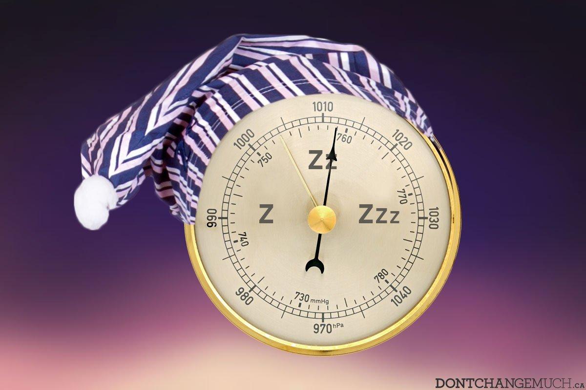 The Man's Sleep Barometer