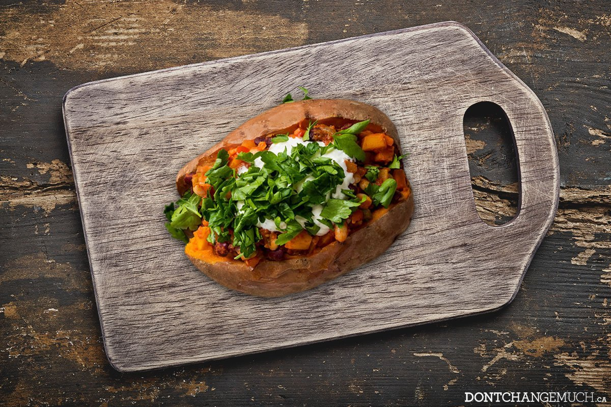 Game Day Chili-Stuffed Sweet Potato Recipe