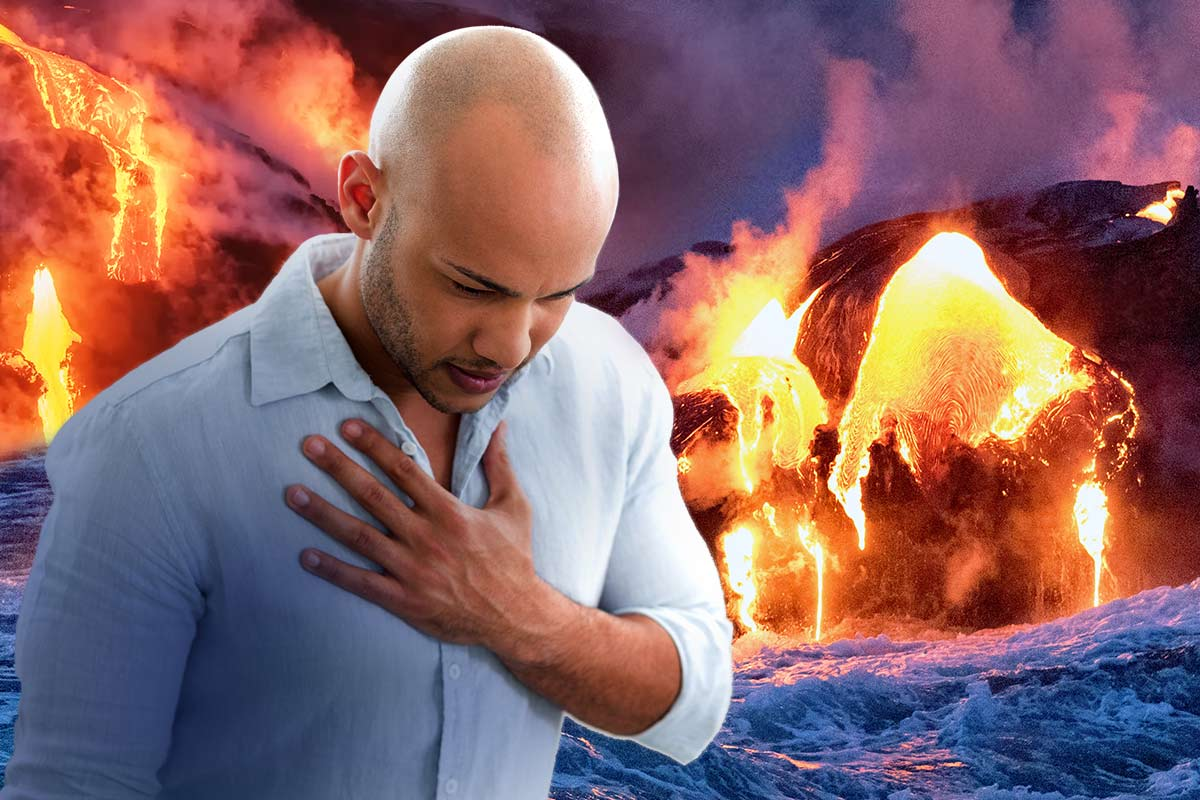 a man suffering from heartburn