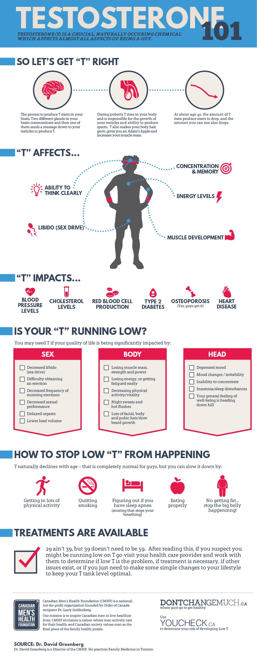 Testosterone 101 Infographic