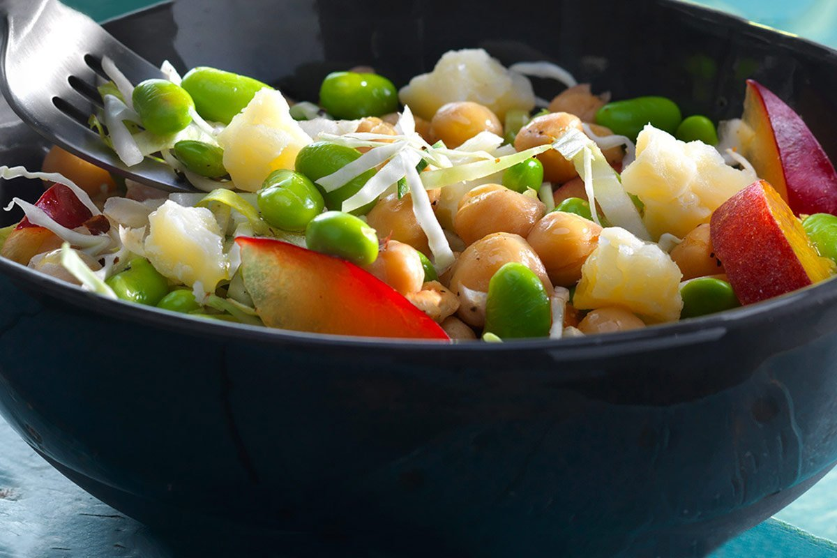 Chef Ned Bell's Cheddar Chickpea Slaw