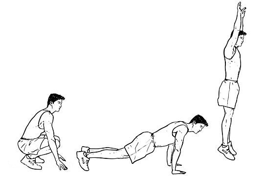 Easy 3-step burpee method