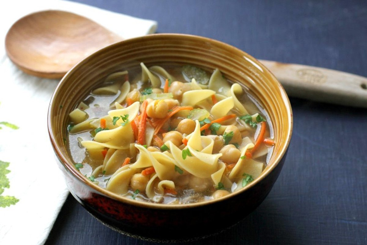 Easy Chickpea Noodle Soup