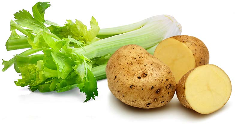Celery and potatoes