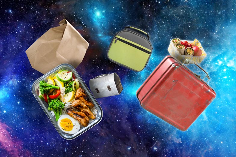 lunch boxes floating in space!