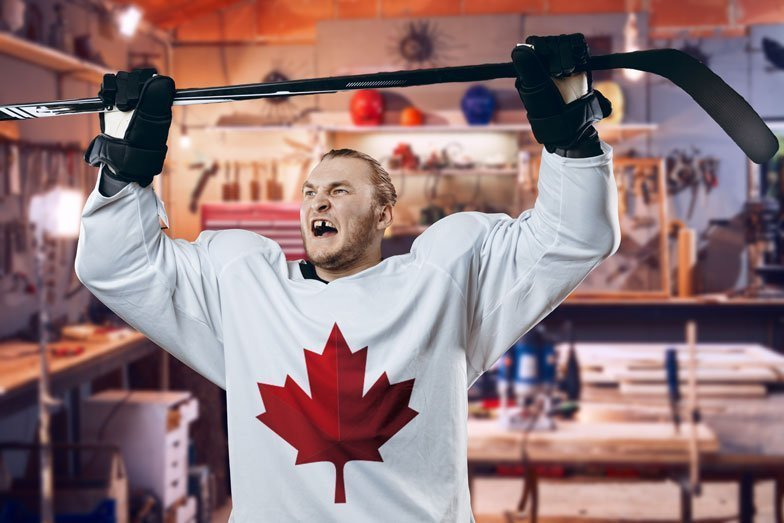 You squat, you score! These 5 easy exercises celebrate Canada's Game