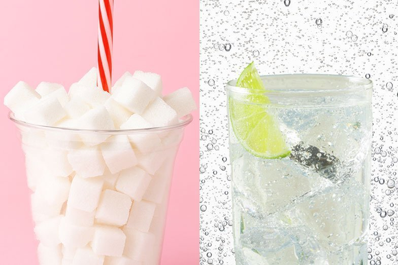Burst pop's unhealthy bubble with this easy soft-drink swap
