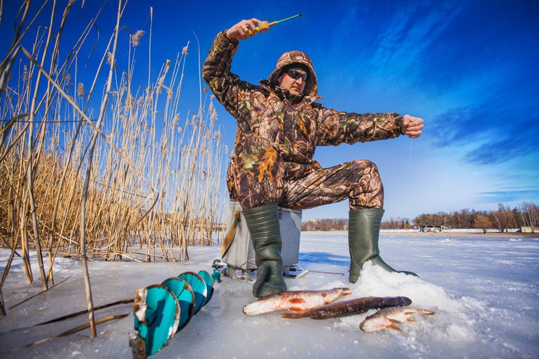 Ice fishing can help you reel in health and happiness. Trout's honour!