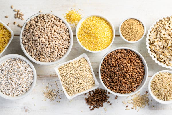 Make at least half of your servings whole grains like brown basmati, barley, quinoa, oats or millet.