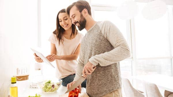 healthy living - eat healthy with your partner