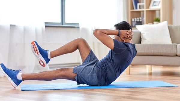 South Asian man exercising